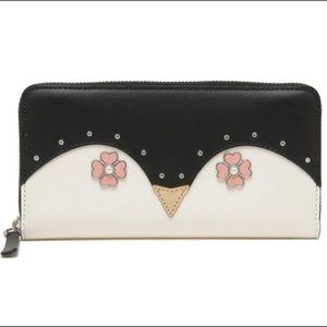 Kate Spade Black Penguin Wallet NWT